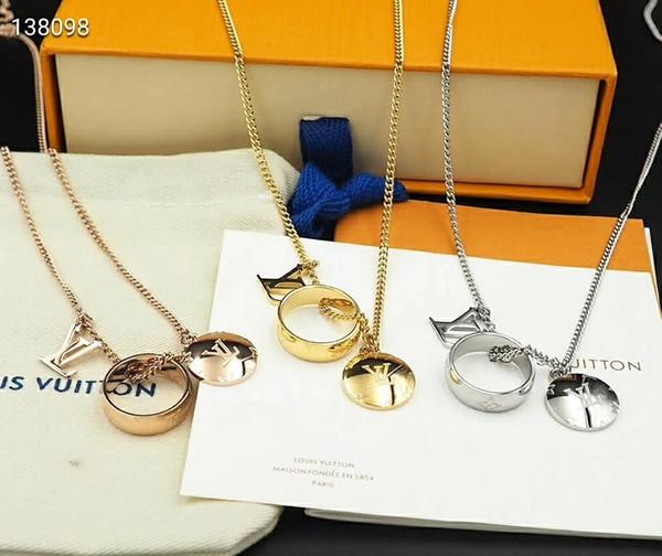 2019 designer clássico monograma de cristal de prata trevo de quatro folhas charme anéis colar brincos e anel aberto jóias mulheres homens colar