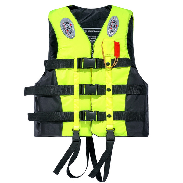Portable Waterproof Oxford Clothes Life Jacket Fluorescent Yellow