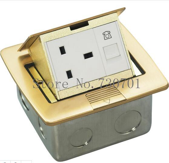Ground/Silver Socket Floor Power Outlet Box,Manual pop up floor socket for Commercial, Industrial, Hospital, Laboratory,100pcs