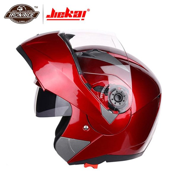 JIEKAI Motorradhelm Casco Moto Motocross Helm Integralhelm Motorrad Klappvisier Racing Modular Motorradfahren