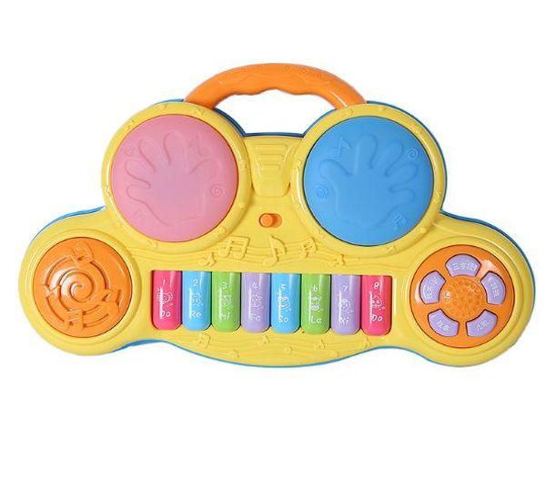 Des elektronischen Orgels der Kinder Multifunktionshandschlagtrommel-Säuglingspädagogisches Babyspielzeug-Früherziehungbaby-Karikaturspielzeug
