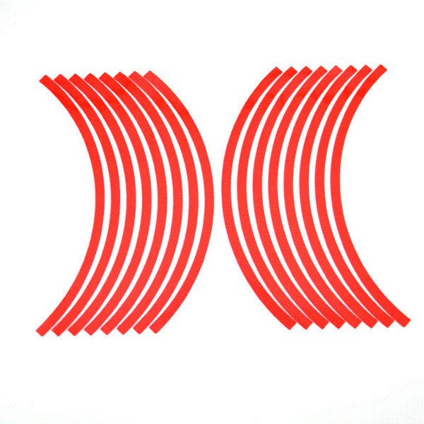 """Car Styling 16 Strips Bike Car Motorcycle Wheel Tire Reflective Rim Stickers And Decals Decoration Stickers 10"""" 6 Color XNC"""