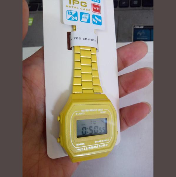 Gospel2005 A168 OROLOGIO GIALLO GASIO prezzo all'ingrosso a buon mercato CASOI G-SHCOK WATCH per uomo e donna orologio impermeabile originale A168 b640 A159