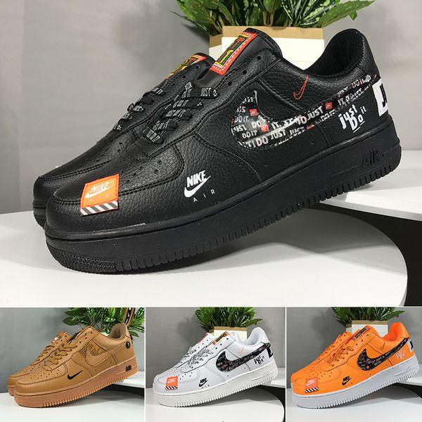 Acquista Nike Air Force 1 One Off White Con Scatola Cheap Brand One 1 Dunk Flyline Scarpe Donna Uomo Low Cut Nero Bianco Alta Qualità Skateboard
