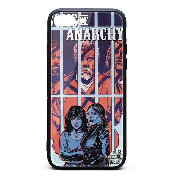 IPhone 8 Plus Case iPhone 7 Plus Case Sons of Anarchy motorcycle club Comic cover personalised shock-absorption TPU Soft Rubber Silicone Cov