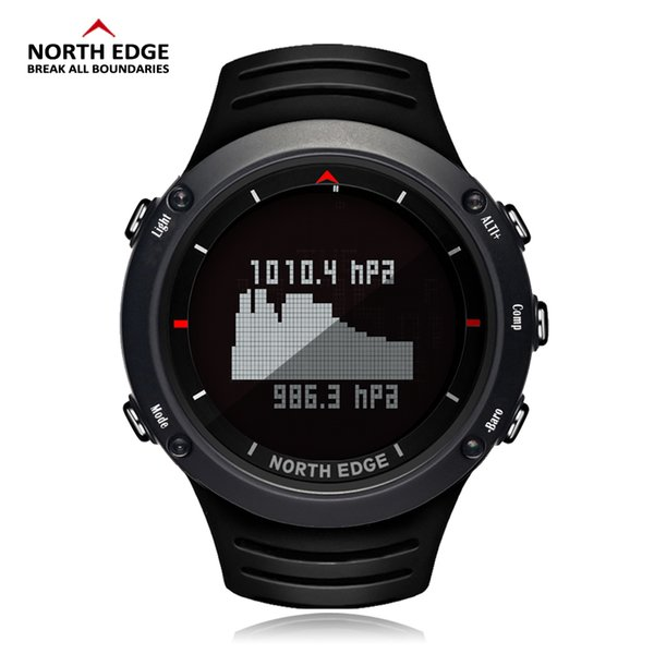 North Edge Men Sports Watch Altimeter Barometer Compass Thermometer Weather Forecast Watches Digital Running Climbing Wristwatch Y19021401