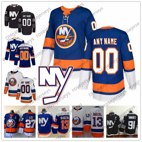 Custom New York Islanders Blue Third Jersey Qualsiasi numero Nome uomini donne giovani bambini Bianco Nero Barzal Bailey Eberle Filppula 26 Simon Holmstrom
