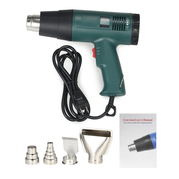 1800W 220V Industrial Electric Hot Air Gun Thermoregulator Heat Guns LCD Display Shrink Wrapping Thermal power tool