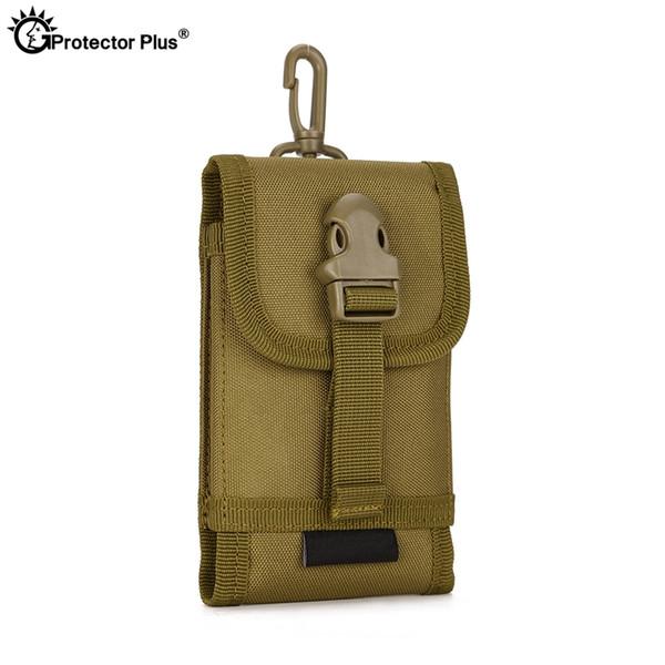 5,8 pouces de téléphone portable PROTECT PLUS Attachment Pouch pour hommes Tactical MOLLE System sac d'accessoires Escalade Voyage Randonnée Sacs # 433444