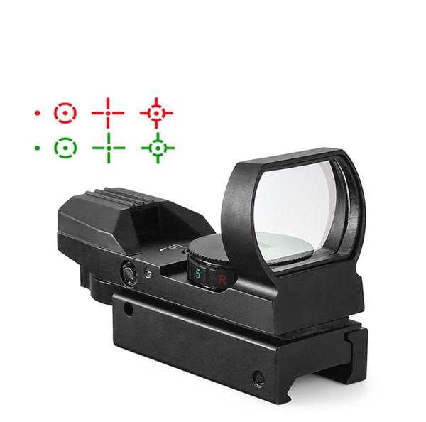 top popular Hot 20mm Rail Riflescope Hunting Optics Holographic Red Dot Sight Reflex 4 Reticle Tactical Scope Collimator Sight 2020