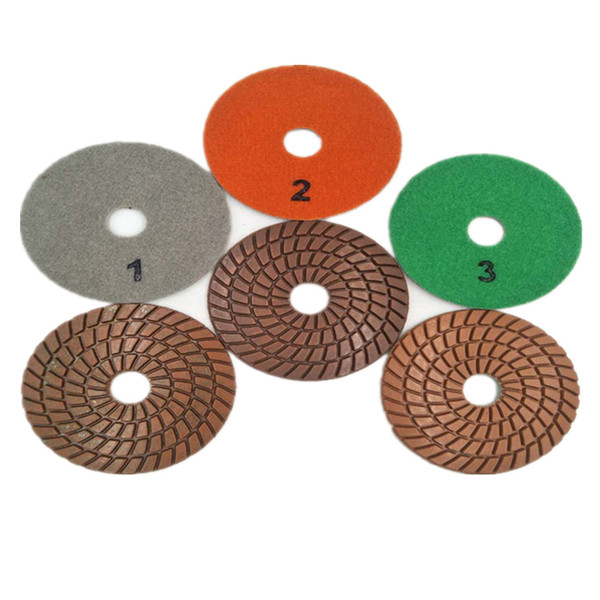 2019 4 Inch D100mm 3 Steps Resin Grinding Disc Diamond Flexible Concrete Floor Polishing Pads For Concrete And Terrazzo Floor From Jasonxiaoling