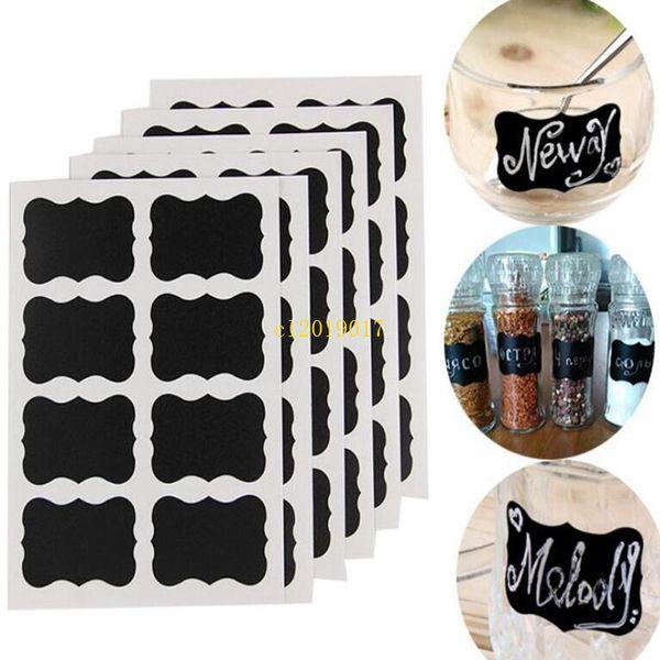 300pcs Blackboard Craft Kitchen Jar Organizer Labels Chalkboard Chalk Board Stickers Black Bottle DIY Stiky Stickers