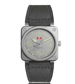 Lüks BELL çelik saat erkek saatler büyük yüzleri numaraları Otomatik takvim moda Basit casual tasarım stil dial benzersiz Deri bantları