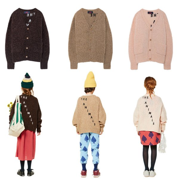 Herbst Kinder Strickwaren Baby Boy Strickjacke Pullover Tao Letters Bauer Strickjacke Kleinkind Mädchen Tops Outwear Gestrickte Kleidung Pullover