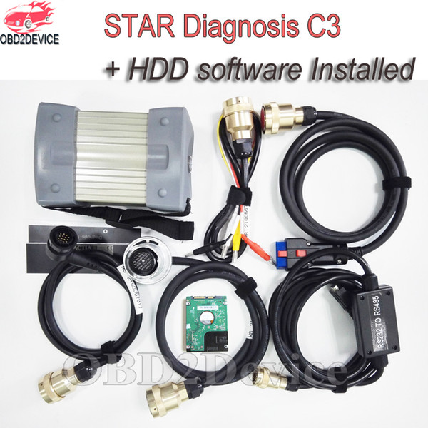 High Quality Mb Star C3 Pro with HDD Software Red Interface Star Diagnosis C3 for Cars&Trucks Diagnostic Tool