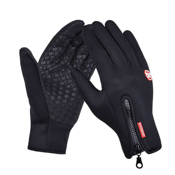 Outdoor Sports Hiking Winter Bicycle Bike Cycling Gloves For Men Women Windstopper Simulated Leather Soft Warm Gloves S1025