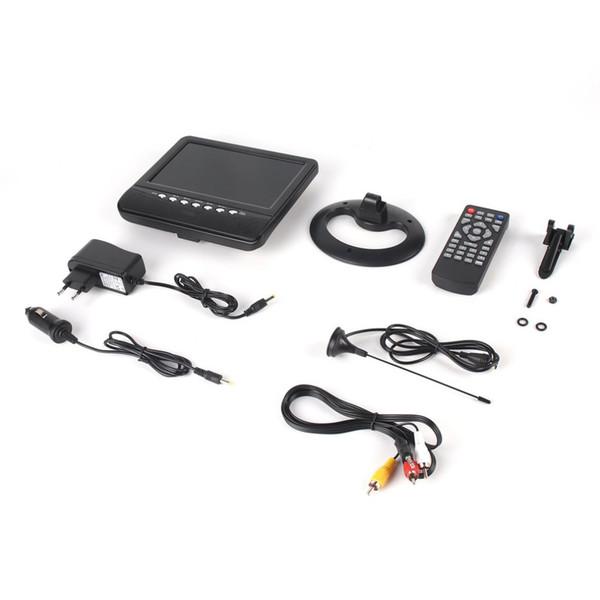 7 pulgadas TFT Pantalla LCD TV analógica FM TXT Reader MP3 USB Support Ranura para tarjeta MMC Auto Car Reader Digital Mobile TV