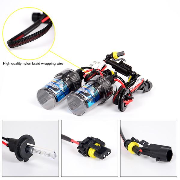 headlight kit RACBOX 55W Quick Start ID Xenon Conversion eadlight Kit 12V 1 3 4 H7 H8 H9 H11 9005 HB3 9006