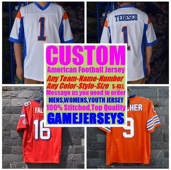 top popular Personalized american football jerseys college cheap authentic top quality sports jersey stitched mens women youth kids 4xl 5xl 6xl 7xl 8xl 2019