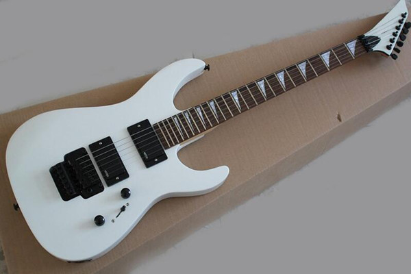 free shipping perfect New Arrival Blue Metallic Set In JS Electric Guitar with Tremolo, 24 Frets, Binding White Body Provide customization