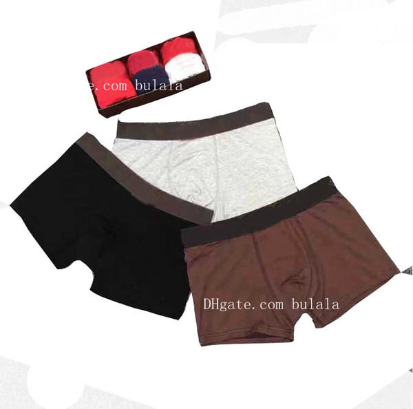 best selling No Box 5pxs lot Underwear Mens Boxers Shorts Cotton Underwear Sexy Man Panties Comfortable Gay Underpants Male Boxershorts Soft Underpants