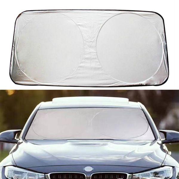 Sunshades For Cars >> Car Styling Folding Jumbo Front Rear Car Window Sun Shade Auto Visor Windshield Block Cover Car Windshield Sunshade 150 70cm Rear Window Sunshades For