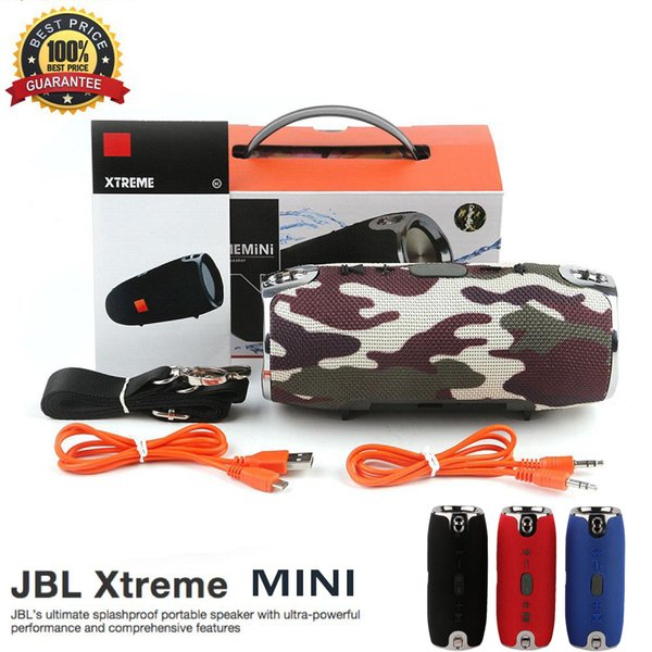 JBL Bluetooth Speaker Xtreme Mini Wireless Portable Subwoofer Waterproof stereo Speakers Support TF Card Have LOGO With Strap PK Charge 3 2