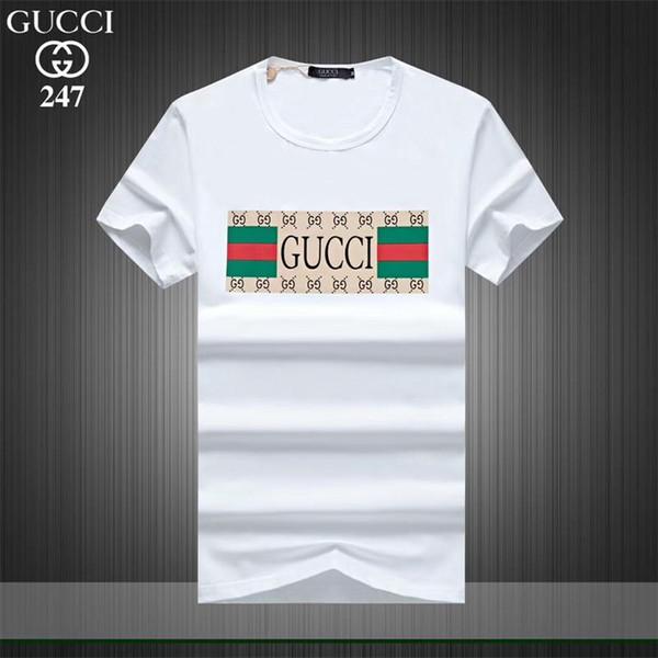 La nueva camiseta con estampado de hombre para el verano de 2019 es una moderna camiseta 100% de algodón con ropa de marca de alta calidad # 0071