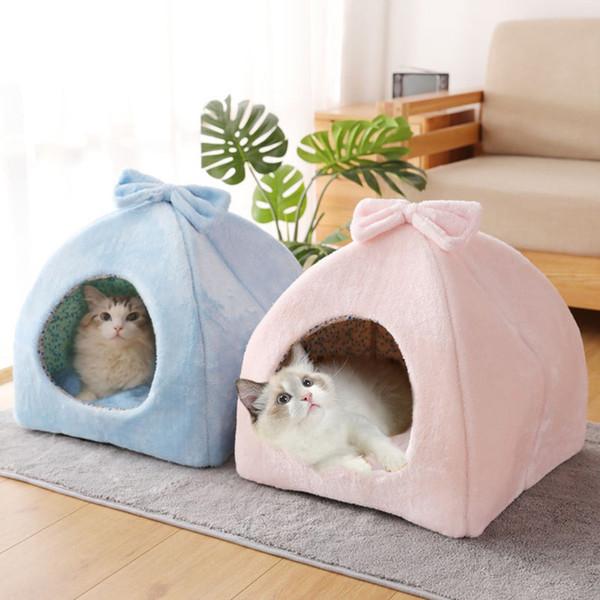 Tente Chien Chat Maison Kennel Hiver Chaud lit douillet Pliable Sleeping Mat ménage Pad Accessoires Nouveautés Meilleures ventes