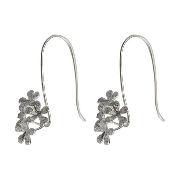 wholesale 26989smt2 Sterling Silver Earring Component Earrings for Pierced Ears Flower Hook Earwire