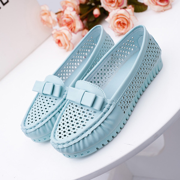 Autumn Fashion New Design Color Flat Shoes PU Leather Women Flats Girl Korea Version Spring Summer Breathable Casual Shoes