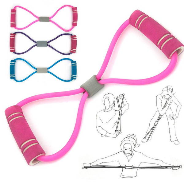 top popular Yoga 8-Shape Pull Rope Tube Gym Home Sport Fitness Supplies Equipment 2021