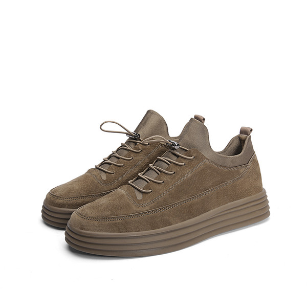2019 fashion spring shoes thick bottom high board shoes for the south Korean version of young fashion male students with casual shoes