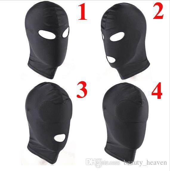 Fetish Unisex BDSM Hood Leather Sex Mask Blindfolded, Adult Erotic Games, Head Restraints Bondage Halloween Gimp Sex Toys For Couples