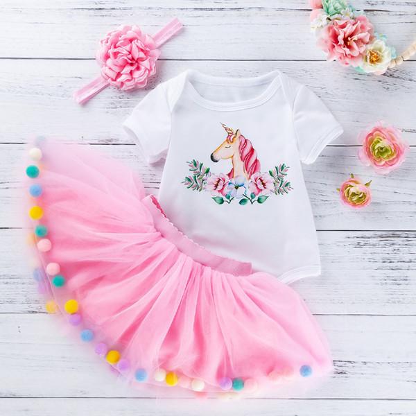 Newborn Infant Kids Baby Girl Floral Princess Tutu Romper Dress Party Xmas Gown