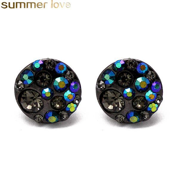 Orecchini di cristallo rotondi fatti a mano alla moda di modo semplice orecchino di Rinestone per i monili dei regali delle ragazze delle donne