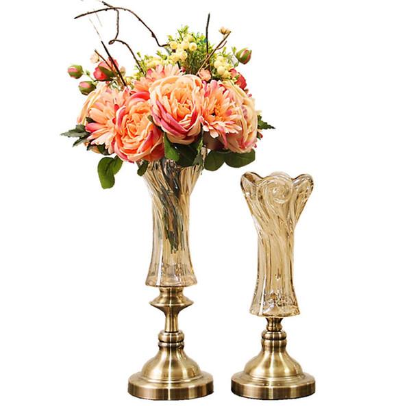 225 & European Classical Lead Free Crystal Glass Vase Creative Living Room Coffee Table Table Decoration Utensils Flower Vase Decoration Glass Flower Vases ...