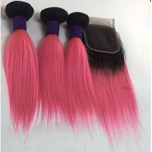 1b pink straight with closure