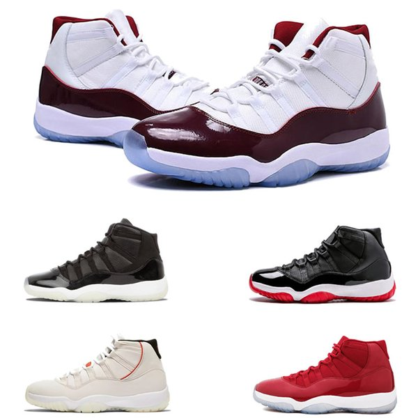 best selling 11 basketball shoes Platinum Tint Chicago sports designer shoes Concord 11s Athletic sneakers sport shoes size 36-47