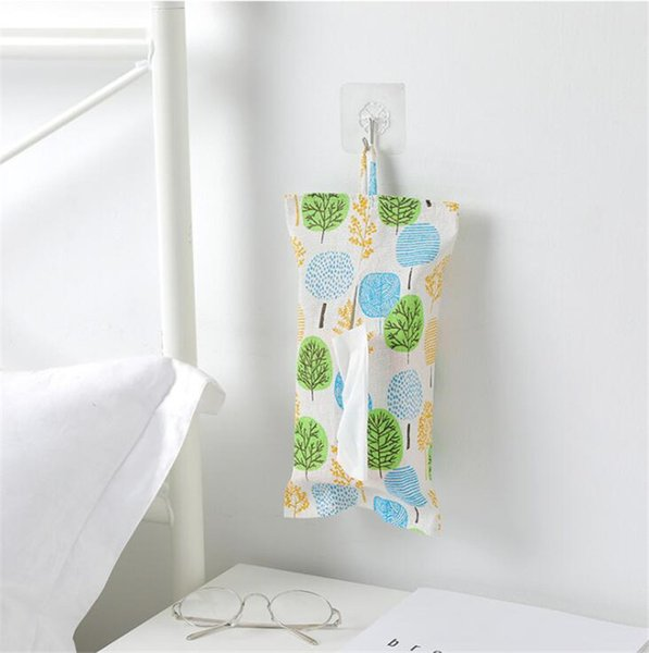 1pcs Cloth Tissue Box Toilet Hanging Cover Room Car Sofa Hotel Decorative Paper Container Case Pouch