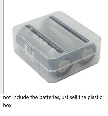 Home Organization box Bin Hard Plastic cell battery Case Holder Organizer 26650 battery Storage Box For 2 X 26650 Rechargeable Batteries