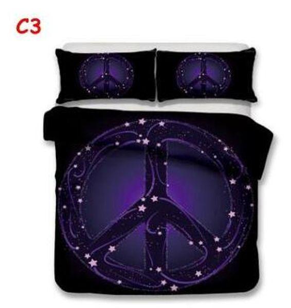 3pcs Luxury Bedding Set Duvet Hippie Style Bed Cover Set King Sizes Back to School Duvet Cover Set Bedding Supplies 111