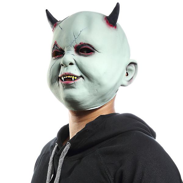 Halloween Party Mask Анфас Маски Ужаса для Дьяволов COS Cosplay Club Decor Реалистичные Реквизит для Взрослых Забавные Игрушки Подарки Латексные Костюмы