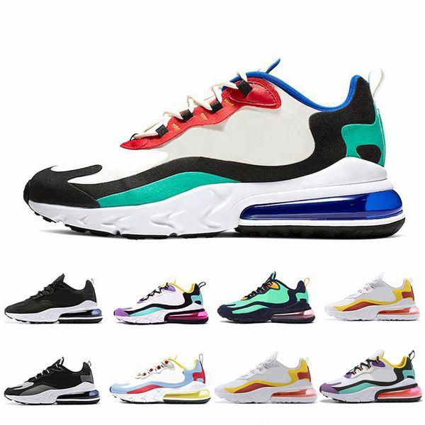 top popular 2019 new React Bauhaus Blue Violet Green Mens Trainers Utility Designer Sports Sneakers Men Women Running Shoes Size 36-46 2019