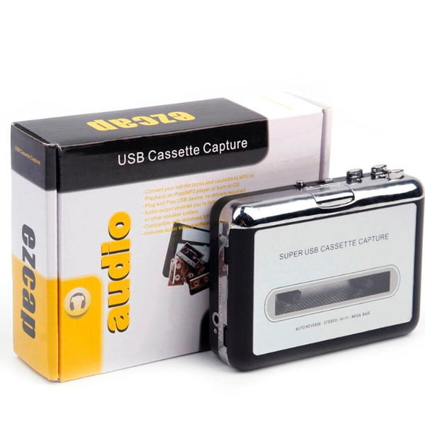 Portable MP3 cassette capture to MP3 USB Tape PC Super MP3 Music Player Audio Converter Recorders Players Cassette-to-MP3