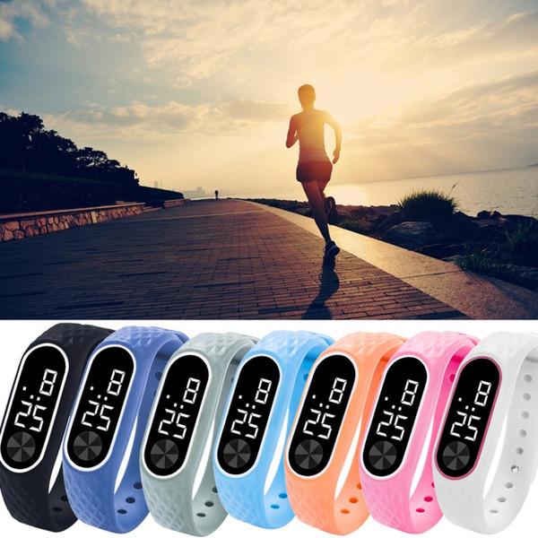 Sports watch men Digital LCD Pedometer Run Step Walking Distance Calorie Counter Digital Watch Bracelet Men's sports