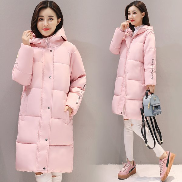 SNOW PINNACLE Winter Jacket Women Mid-Long Warm Hooded Fur Pocket Cotton Padded Parkas Sweat Girls Cold Outwear Jacket M-XXL