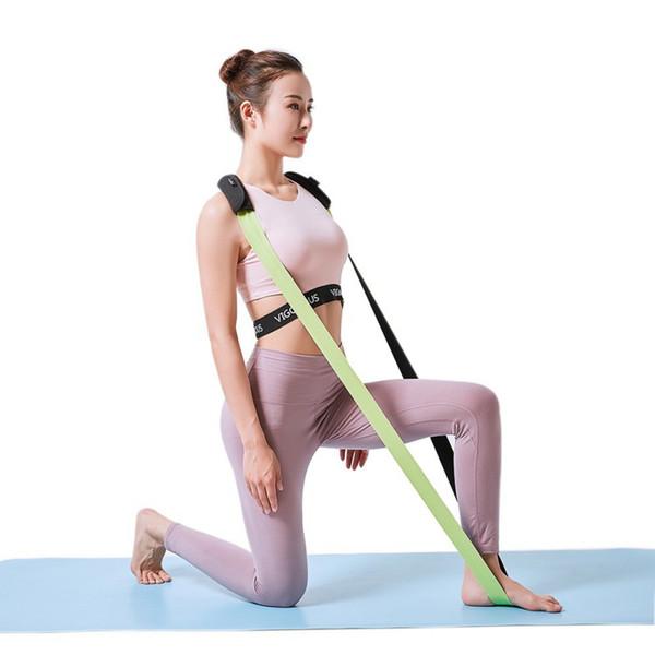 Yoga Stretch Belt Fitness SPORTS Сопротивление группы Набор подвесных трубок с ручками из пенопласта Шнуры для упражнений Пилатес Силовые тренировки