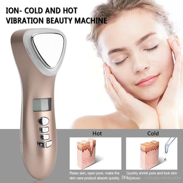 LEVOU Martelo Frio Quente Ultrasonic Cryotherapy Levantamento Facial Vibração Massager Rosto Corpo Pele Rugas Acne Remoção Da Máquina Da Beleza