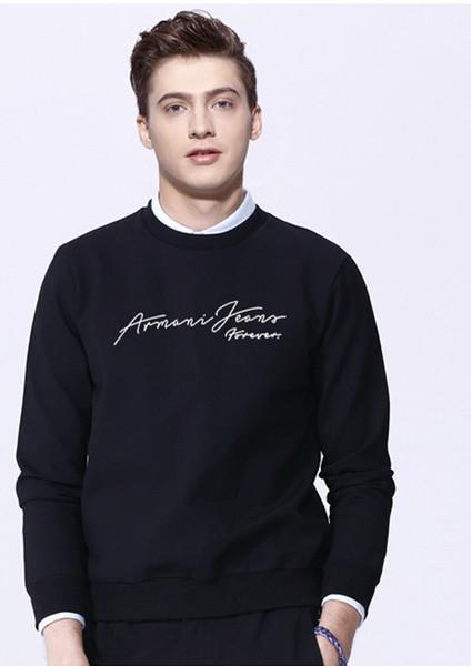 2019 nuovi casual autunno e inverno da uomo a maniche lunghe con cappuccio T-shirt da uomo con cappuccio ispessito da uomo